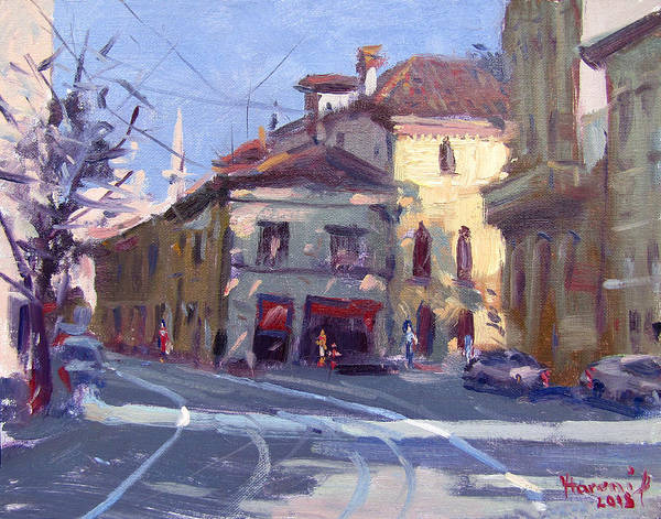 Wall Art - Painting - Morning At Padua Italy by Ylli Haruni