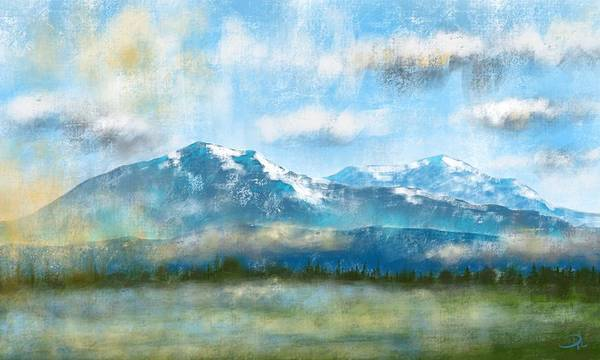 Wall Art - Digital Art - Morning At Spanish Peaks by David G Paul