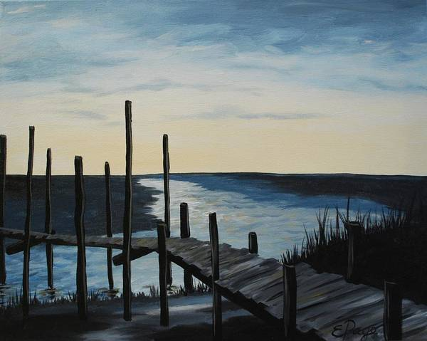 Painting - Morning At The Dock by Emily Page