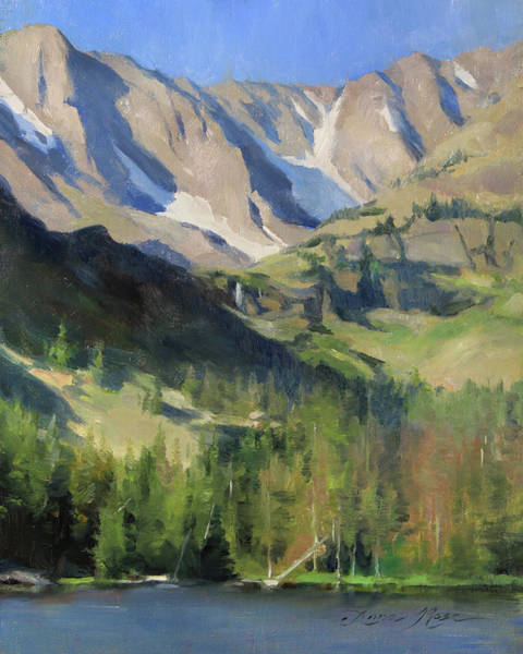 Rockies Wall Art - Painting - Morning At The Loch by Anna Rose Bain