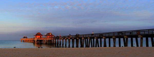 Morning At The Naples Pier Art Print