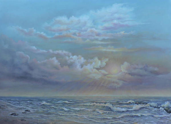 Painting - Morning At The Ocean by Katalin Luczay