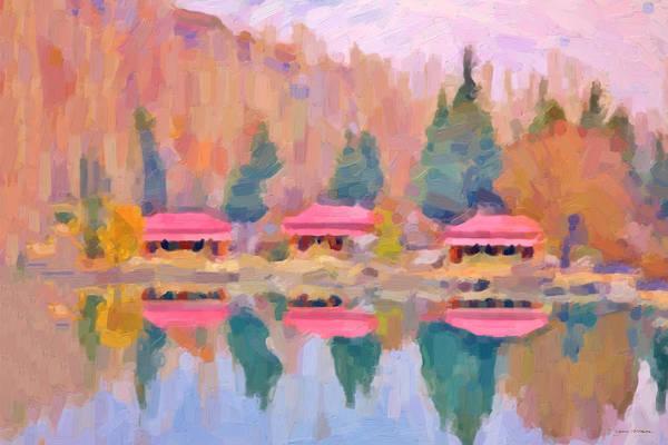 Digital Art - Morning At The Pink Lake No.1 by Serge Averbukh