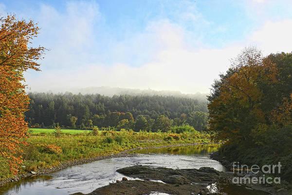 Photograph - Morning Autumn Fog by Deborah Benoit