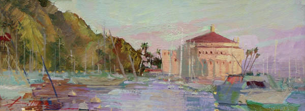 Painting - Morning Avalon Harbor - Catalina Island by Betty Jean Billups