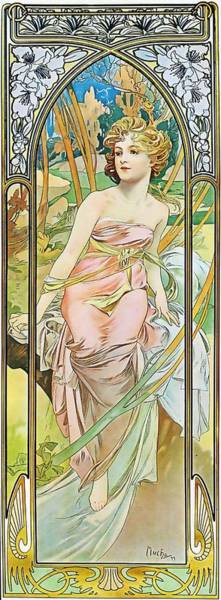 Painting - Morning Awakening by Alphonse Mucha