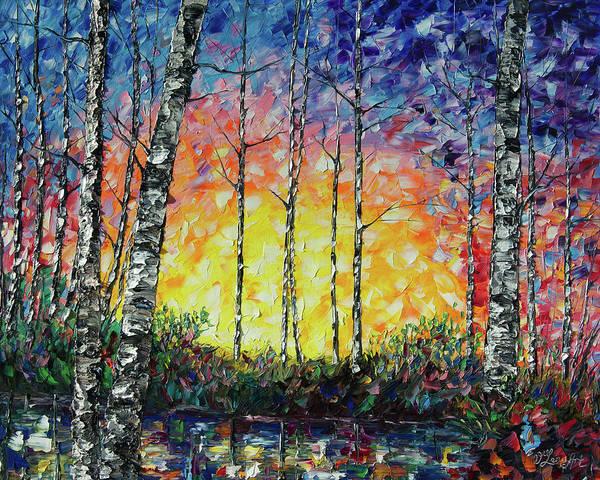 Painting - Morning Breaks  by OLena Art - Lena Owens