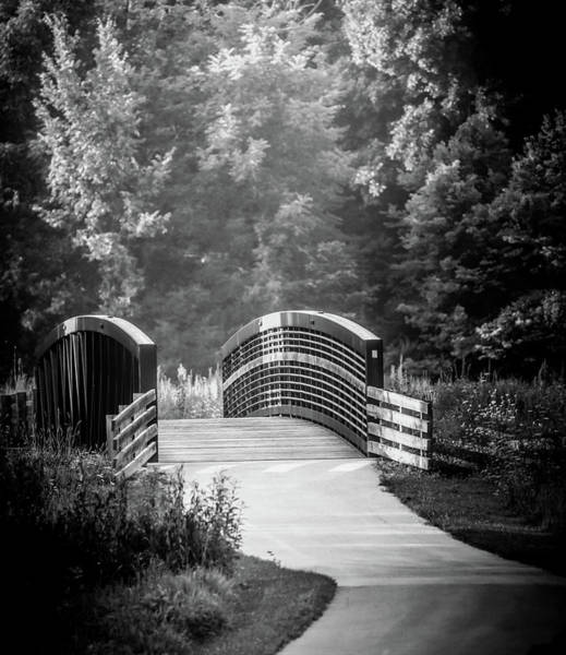 Photograph - Morning Bridge In Black And White by Dan Sproul