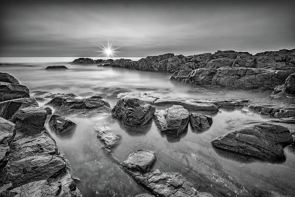 Wall Art - Photograph - Morning Calm On Marginal Way In Black And White by Rick Berk