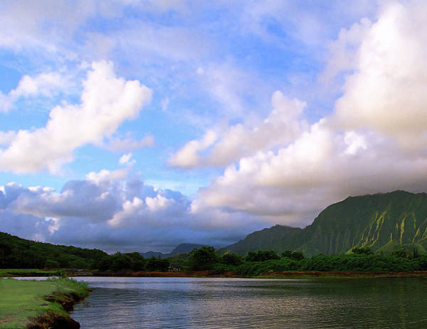 Wall Art - Photograph - Morning Clouds Kahalu'u by Kevin Smith