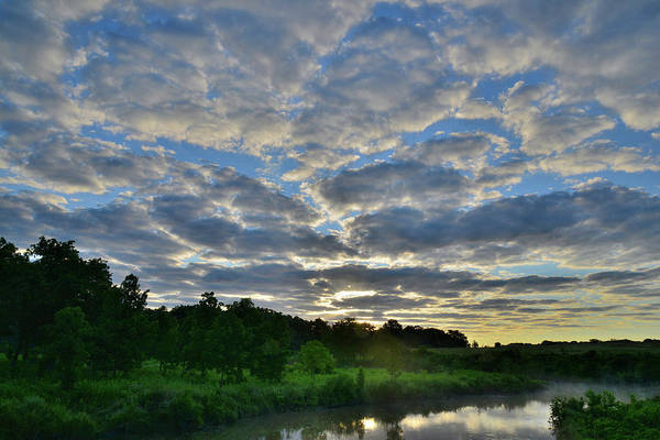 Photograph - Morning Clouds Over Glacial Park's Nippersink Creek by Ray Mathis