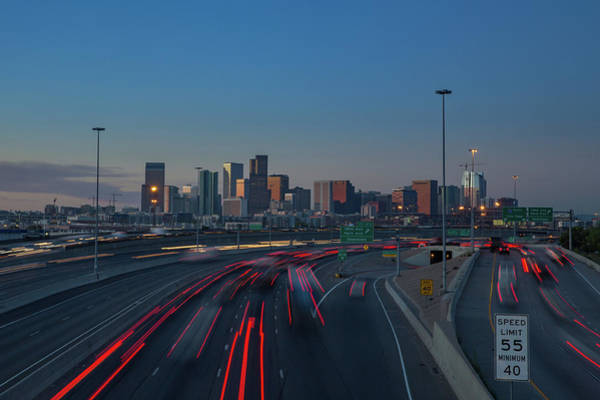Wall Art - Photograph - Morning Commuters Emerge On Downtown Denver by Bridget Calip