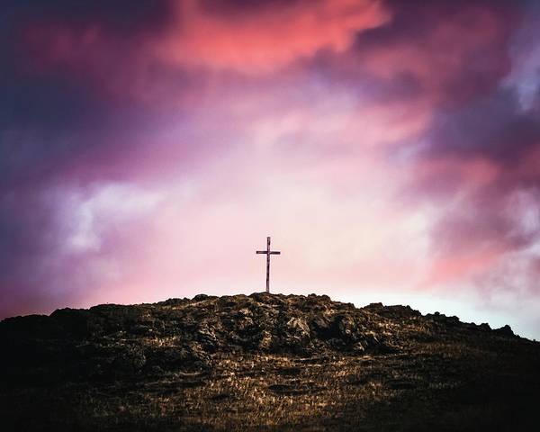 Bishop Hill Photograph - Morning Cross by Debi Bishop