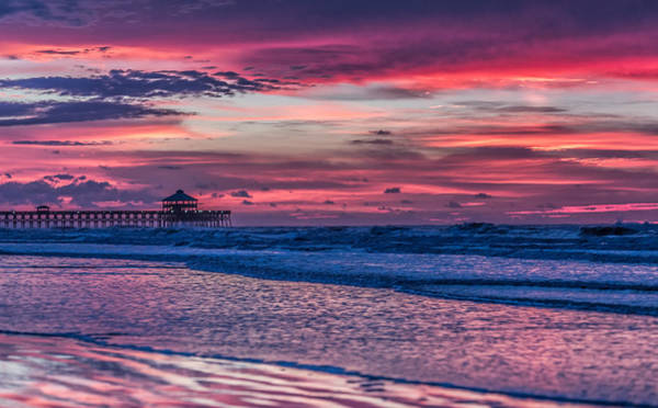 Photograph - Morning Divide - Folly Beach Sc by Donnie Whitaker