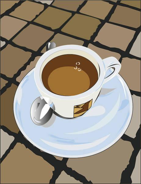 Digital Art - Morning Espresso by Marina Usmanskaya