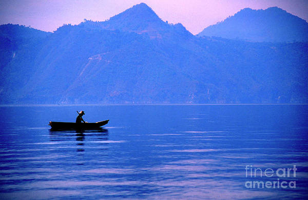 Photograph - Morning Fishing Lake Atitlan by Thomas R Fletcher