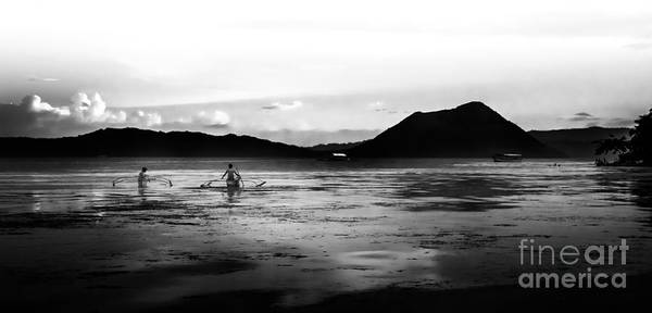 Photograph - Morning Fishing On The Taal Volcano by Michael Arend