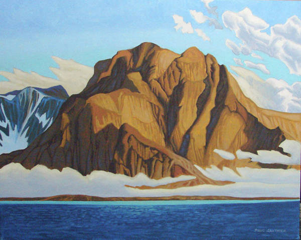 Wall Art - Painting - Morning Fog Frobisher Bay by Paul Gauthier