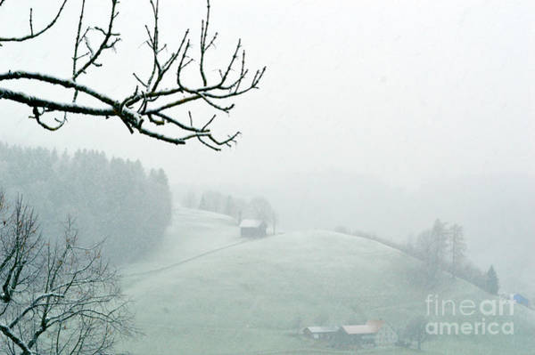 Photograph - Morning Fog - Winter In Switzerland by Susanne Van Hulst