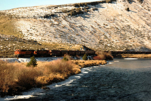 Wall Art - Photograph - Morning Freight Train by Jeff Swan
