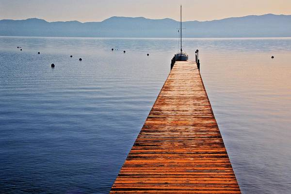 Photograph - Morning Frost, Lake Tahoe, California by Flying Z Photography by Zayne Diamond