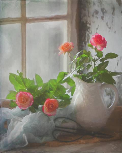 Digital Art - Morning Gardening by Teresa Wilson