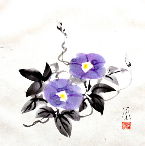 Painting - Morning Glory by Fumiyo Yoshikawa