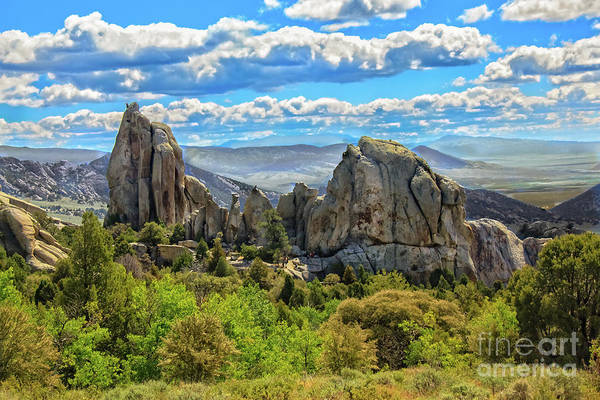 Wall Art - Photograph - Morning Glory Spire And Anteater City Of Rocks 04 by Robert Bales