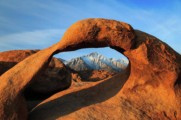 Sierra Nevada Mountain Range Photograph - Morning Glow At Mobius Arch. by Johnny Adolphson