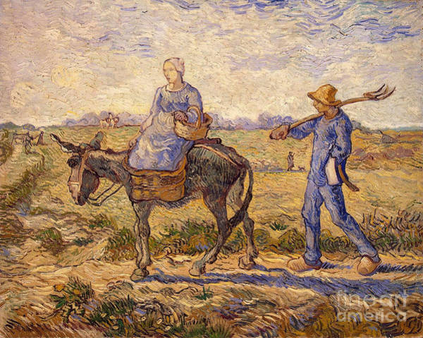Wall Art - Painting - Morning Going Out To Work by Vincent Van Gogh