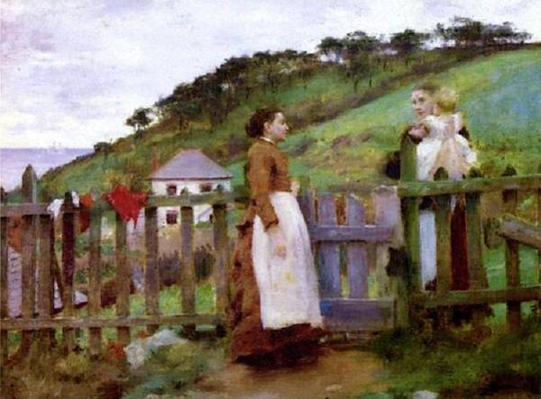 Painting - Morning Gossip by Henry Scott Tuke