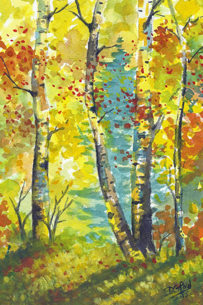Wall Art - Painting - Morning Grove by David G Paul