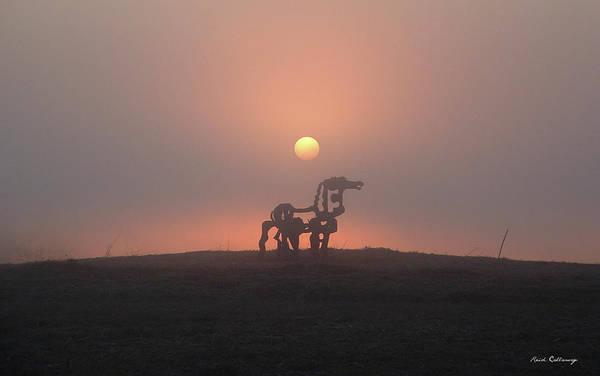 Photograph - Morning Haze Iron Horse Art  by Reid Callaway