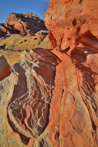 Photograph - Morning High Above Valley Of Fire Canyons by Ray Mathis