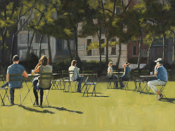 Wall Art - Painting - Morning In Bryant Park Two by Tate Hamilton