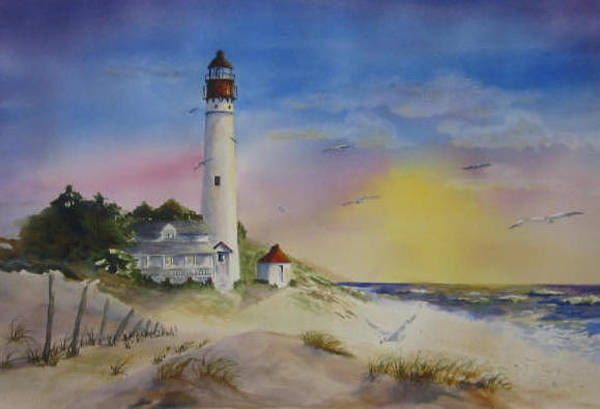 Cape May Painting - Morning In Cape May by Kate Wyman