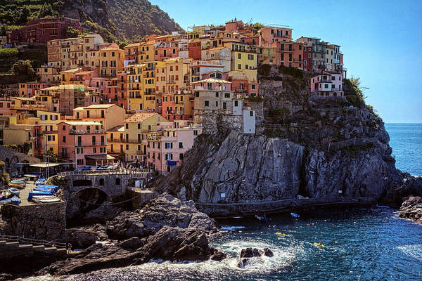 Photograph - Morning In Manarola Cinque Terre Italy by Joan Carroll