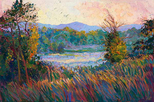 Wall Art - Painting - Morning In Mist by Erin Hanson