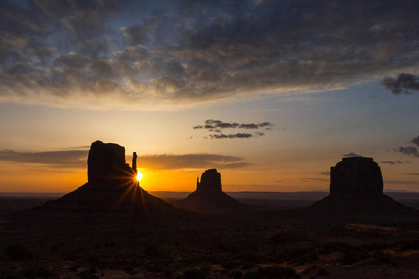 The Mitten Photograph - Morning In Monument Valley by Penny Meyers