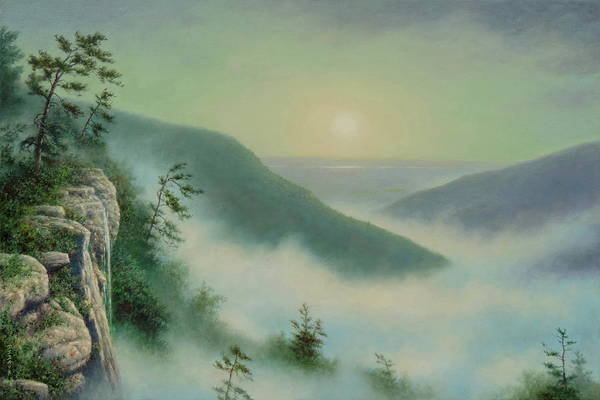 Wall Art - Painting - Morning In The Catskills by Barry DeBaun