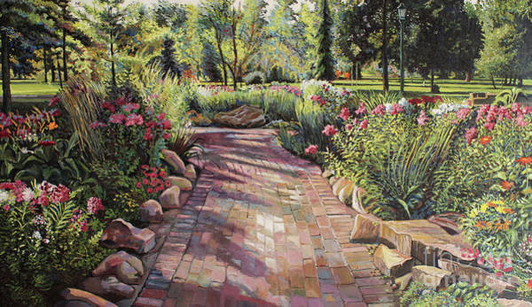 Grand Rapids Painting - Morning In The Garden by William Bukowski