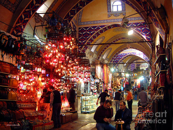 Istanbul Photograph - Morning In The Grand Bazaar by Mike Reid
