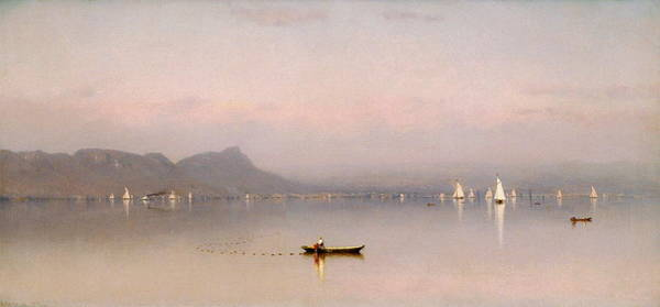 Wall Art - Painting - Morning In The Hudson, Haverstraw Bay by Sanford Robinson Gifford