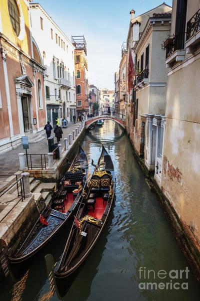 Photograph -  Morning In Venice In Winter by Marina Usmanskaya