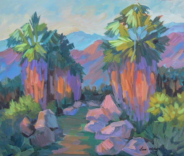 Wall Art - Painting - Morning Indian Canyon by Diane McClary