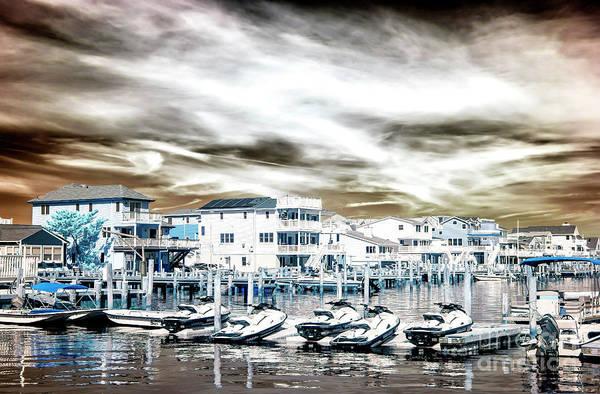 Wall Art - Photograph - Morning Jet Skis Infrared At Long Beach Island by John Rizzuto