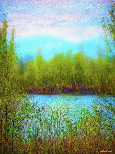 Digital Art - Morning Lake In Stillness by Joel Bruce Wallach