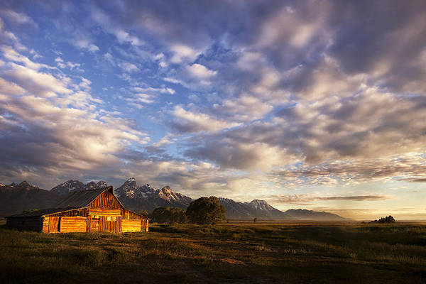 Pioneer Mountains Wall Art - Photograph - Morning Light At The Barn by Andrew Soundarajan