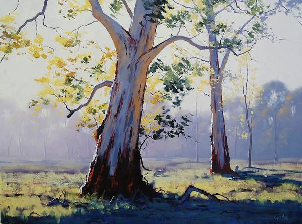 Australian Art Painting - Morning Light Eucalypt by Graham Gercken