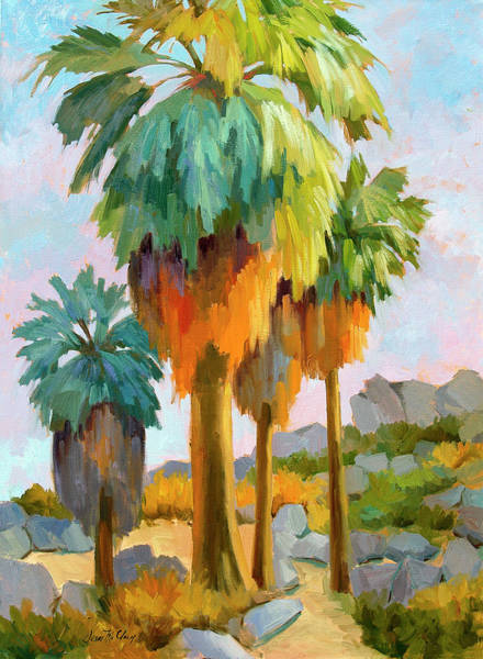 Canaries Painting - Morning Light Indian Canyons by Diane McClary